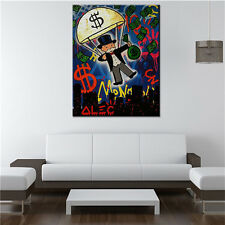 Alec Monopoly Skyline handcraft Oil Painting on Canvas art Wall Decor Portrait