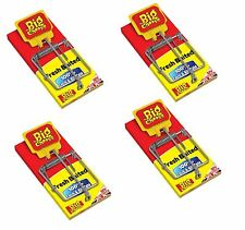 4 xTHE BIG CHEESE PRE BAITED WOODEN EASY TO SET MOUSE TRAP 4 PACK 100% KILL RATE