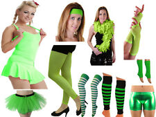 St Patrick's Day Woman Fancy Dress Tutu Skirt Wrist & Head Band gloves Legging