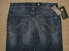 Rock & Republic Colburg Slim Straight Dark Blue Denim Jeans Men Size 32 x 34 New