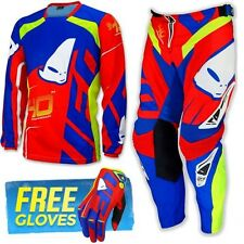 UFO 2017 Race Kit MX ENDURO Combo Kit Pants Shirt and Free Gloves Made In Italy
