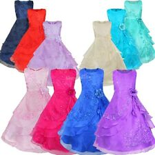 New Princess Tutu Flower Girl Dress Kid Party Pageant Wedding Bridesmaid Dresses