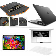 """4 in 1 Bundle Soft-Touch Frosted Hard Case w/Sleeve Bag 13"""" Macbook / Pro / Air"""