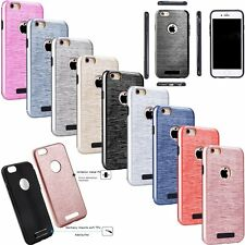 Slim Brush Shockproof Protective Hard Case Cover For Apple iPhone 5 6 7 Plus SE