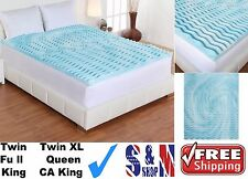 3 inch Cooling Foam Gel Mattress Topper Pad Bed Cushion 5-Zone Orthopedic Firm