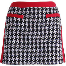 NWT JUICY COUTURE Wool Black Check A-line Houndstooth Tweed Mini Skirt 6 8 $168
