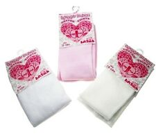 Baby Girls Tights 0-6 6-12 12-18 18-24 Months Pink Cream or White By Soft Touch