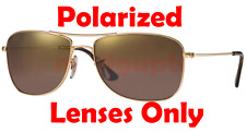 POLARIZED BROWN + Brown Gradient Ray Ban RB 3543 Replacement Lenses 59mm New