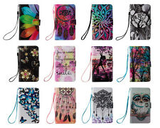 Lovely Pattern Stand PU Leather Flip Wallet Card Holder Case For Huawei LG Sony