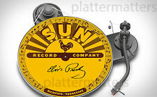 SUN RECORDS Elvis Presley Signed / Unsigned 7 or 12 inch TURNTABLE platter MAT