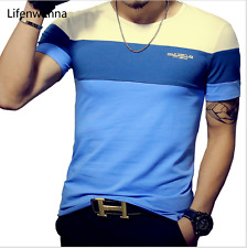 Summer Mens T Shirt 2017 New T Shirt Mens Clothing Trend Slim Fit Short Sleeve