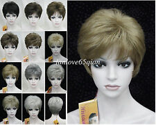 2017 hot 11 Colour Short Straight Women Ladies Natural Daily Hair wig
