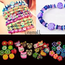 100 PCS Clay Beads DIY Slices Mixed Color Fimo Polymer Clay LM01