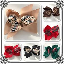Baby Girls Teens Fashion BURBERRY Hair Bow Clip Large Available in 6 Colours New