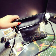 Womens Fashion Transparent Clutch Messenger Totes Shoulder Satchel Handbag Bag G