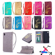 Magnetic Flip Stand PU Wallet Leather Phone Case Cover Pouch For Sony Ericsson