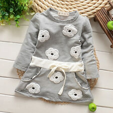 Newborn Baby Clothing Toddler Girl Cotton Dresses Infant Floral Dress  2 Colors