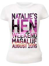 SUNSET PERSONALISED HEN NIGHT T-SHIRTS HEN PARTY T-SHIRTS CUSTOM MADE VESTS TOPS