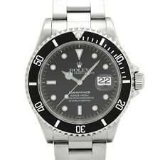 Auth Rolex Mens Submariner Date 16610 Stainless Steel Black Dial & Bezel 190646