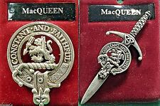 MacQueen Scottish Clan Crest Badge or Kilt Pin Ships free in US