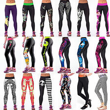 Womens Sports Gym Wear Skinny Tight Yoga Leggings Trousers Fitness Stretch Pants