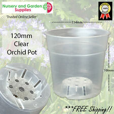 120mm Orchid Pot Clear - Phalaenopsis - various pack sizes