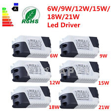 New Dimmable LED Light Lamp Driver Transformer Power Supply 6/9/12/15/18/21W #L