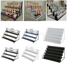 3-5 Tiers Metal Heart Nail Polish Jewelry Display Wall Rack Organizer Stand Rack