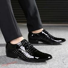 Mens patent leather Chunky heel Oxford Dress formal Business Wedding Shoes New Y