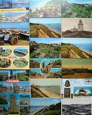 Postcards - NORFOLK (B) - CROMER - Pier, Lifeboat, Lighthouse, Church, Cliffs