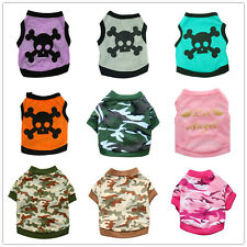 Teacup Dog Clothes Pet Puppy Vest Cat Soft Shirt for yorkie maltese Chihuahua