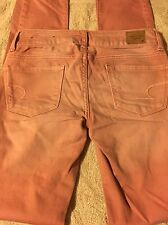 Women's American Eagle Jeans Skinny Size 00 Light Pink Color