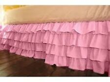 One Qty Ruffle Bed Skirt Egyptian Cotton 1000 TC Pink Solid Drop 15 Inch