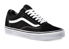 Vans Old Skool Black/White Canvas Classic Shoe Sizes 10 - 13
