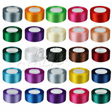 "1 Roll 25 Yards Satin Ribbon Craft 1.5"" 38mm Wide Bow Wedding Party Supply C62C"