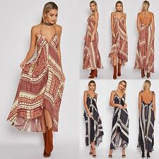 Sexy Womens Ladies Summer Boho Floral Party Evening Prom Long Maxi Sun Dresses