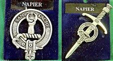 Napier Scottish Clan Crest Badge or Kilt Pin Ships free in US