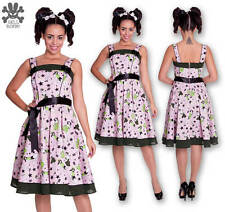 NEW HELL BUNNY PINK DIXIE 50'S SWING DRESS S M PIN-UP GOTH ROCKABILLY TATTOO