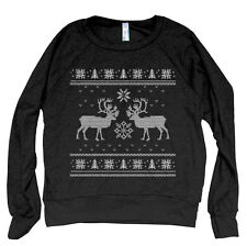 ON SALE Christmas Ugly Sweater Women Pullover American Apparel Tri-Blend