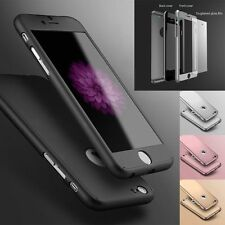 iPhone 5 6 6S 7 Plus Hybrid 360° Ultra thin Case Cover + Screen Protector New