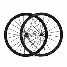 700C 38mm Clincher 3K Full Carbon Wheels Racing Road Bike Bicycle Wheelset