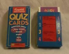 Golden Books CAMPBELL'S Soup Power of Education Kids QUIZ CARDS