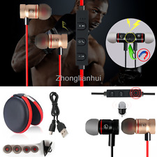 -ZH56 Magnetic Stereo Bluetooth Handsfree Headset Earphone For Cell Phone HuaWei