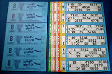 3000 8 Page (Games) Books Jumbo Bingo Tickets 6 To View + Free Flyers / Markers