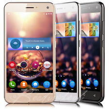 "5.0"" Cheap Unlocked Android 5.1 Cell Smart Phone Quad Core Dual SIM 3G GPS AT&T"