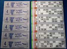 1500 4 Page (Games) Books Jumbo Bingo Tickets 6 To View + Free Markers / Flyers