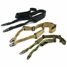 Adjustable Hunting 2 Two Point Rifle Sling Bungee Tactical Shotgun Gun Strap Out