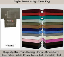 100% PolyCotton Fitted Sheet  Bed Sheet Single Double  King Sking