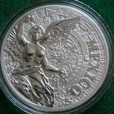Mexico AZTEC CALENDAR WINGED VICTORY 1 Oz Silver Proof Medal Mint