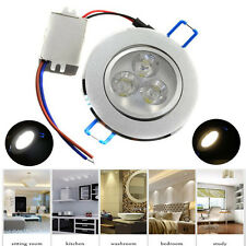3pcs 3W LED Ceiling Recessed Downlight Fixture Lamp Spot Light & Free Driver